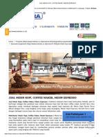 Coffee Maker, Mesin Espresso