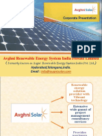 Avghni Solar Corporate Presentation