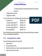 Flow Detector Maintenance