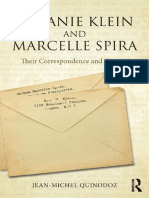 Melanie Klein and Marcelle Spira Their Correspondence and Context