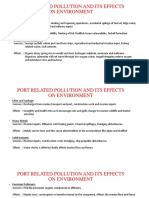 Port Related Pollution and Its Effects on Environment