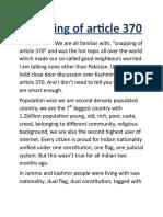 Speech Artical 370