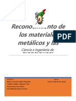 Reconocimiento de Los Materiales Metálicos y Las Aleaciones