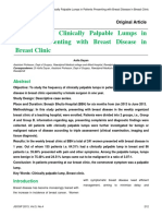 Frequency of Clinically Palpable Lumps in Patients Presenting With Breast Disease in Breast Clinic-Online Format