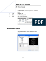 Mesh Edit Autocad
