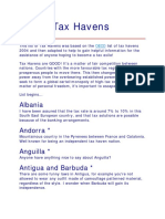 List Tax Haven Country