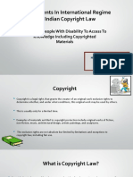 Right of People With Disability to Access to Knowledge Including Copyrighted Materials