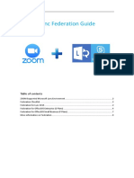 ZOOM Lync Federation Guide 1.1