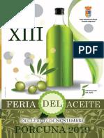 Programa XIII Feria del Aceite Ciudad de Porcuna