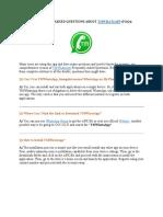 TMWhatsApp FAQs