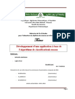 Application a Base de Lalgorithme de Classificationk Means