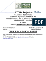 Maths Front Page