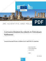 Corrosion Related Incidents in European Refineries 2013