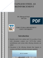 Stainless Steel as Reinforcement