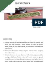 Business Ethics Ppt Unit 1