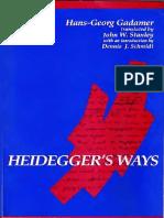 Hans-Georg Gadamer - Heidegger's Ways-State University of New York Press (1994)