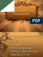 qualities of health care professionals