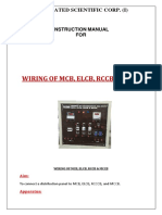 Wiring of Mcb,Elcb,Rccb,Mccb MANUAL