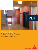 Color Powder Color Chart