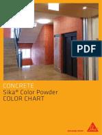 Color Powder Color Chart