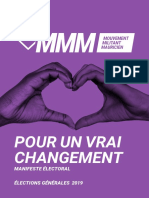 MMM - Programme Électoral Complet - Octobre 2019