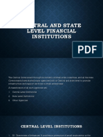 Central and State Level Financial Institutions