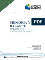 Memoria y Balance N°54