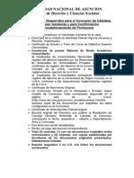 Documentos Requeridos Para El Concurso de Catedras Profesor Asistente y Para Confirmacion Escalafonamiento de Profesores