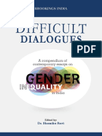 Difficult Dialogue a Compendium of Contemporary Essays on Gender Inequality in India 1