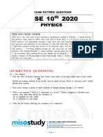 CBSE Class 10 Physics Sample Questions 2020