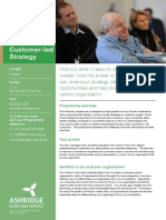 Customer-led Strategy Brochure