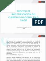 Proceso de Implementación Del Currículo Nacional en El Siagie