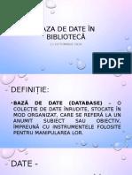 Baza de Date În Bibliotecă