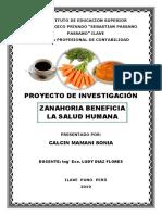 PROYECTO INVESTIGACION ZANAHORIA BENEFICIA LA SALUD HUMANA Sonia.docx