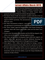 Monthly Current Affairs Of March 2019.