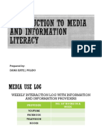 MEDIA and INFORMATION LITERACY 2 Introduction to Media and Information Literacy