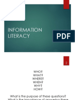 Media and Information Literacy 4 Information Literacy