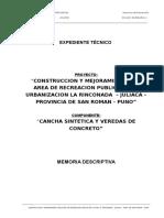 2.- MEM DESCRIPTIVA CANCHA CESPED SINTETICO.doc