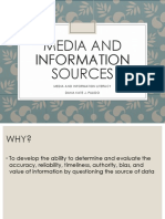 Media and Information Literacy 7 Media and Information Sources