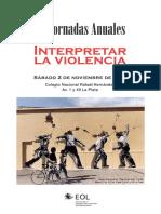 """Programa de """"Interpretar la violencia"""""""