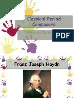 Classical Period Composers Presentation