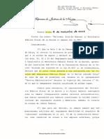 Galíndez, Nicolás Emanuel c Ministerio Público Fiscal de La Nación SAmparo Ley 16.986