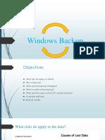 Windows Backup Finalppt