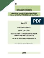Fe de Erratas Cas 009-2019_Sub Regional Huaytara