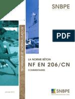 La norme béton NF EN 206/CN - Commentaires