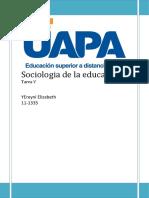 Sociologia de La Educacion t V
