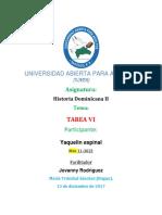 TAREA VI Historia Dominicana II