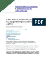 Normas Basicas Para Archivar