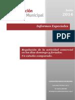 Regulacion de La Actividad Comercial en Los Dias Domingo y Feriados