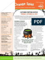 orange spiel oct 2019